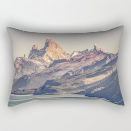 Fitz Roy and Poincenot Andes Mountains - Patagonia - Argentina Rectangular Pillow