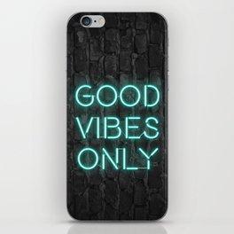 Neon Good Vibes - Teal iPhone Skin