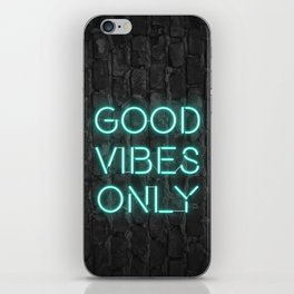 Neon Good Vibes - Teal iPhone Skin