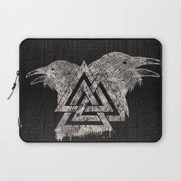 Valknut Symbol and Raven Laptop Sleeve