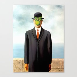 Rene Magritte The Son of Man, 1964 Artwork, Tshirts, Posters, Prints, Bags, Men, Women, Youth Canvas Print