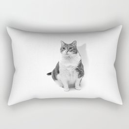 Cat in black and white Rectangular Pillow