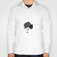 charlie chaplin Hoodies featuring Charlie Chaplin by Ilariabp.art