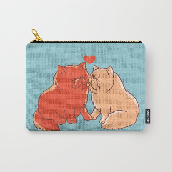 Cat Kisses Carry-All Pouch