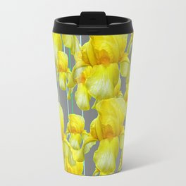 OODLES OF YELLOW IRIS GREY GARDEN ART Travel Mug