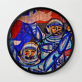 Asteroid Blues Wall Clock
