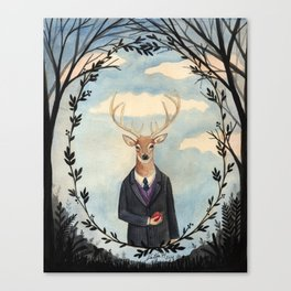 Deer Man Canvas Print
