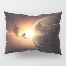Floating Above Earth Pillow Sham