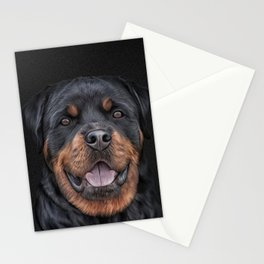 Drawing dog rottweiler 6 Stationery Cards