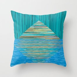 Mountain Lake Abstract Throw Pillow