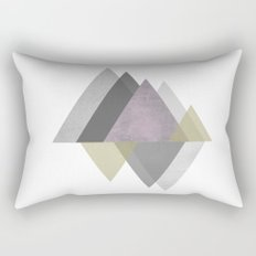 To the Mountains I Must Go, Abstract Geometric Art Rectangular Pillow