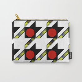 HOUNDSTOOTH PATTERN WITH POLKA DOT EFFECT Carry-All Pouch