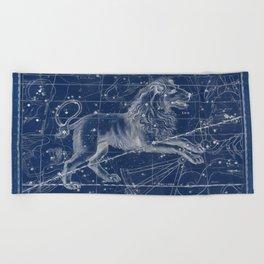Leo sky star map Beach Towel