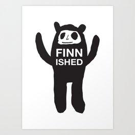 FINNISHED BEAR Art Print