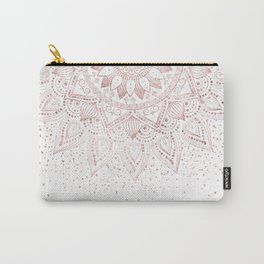 Elegant rose gold mandala confetti design Carry-All Pouch