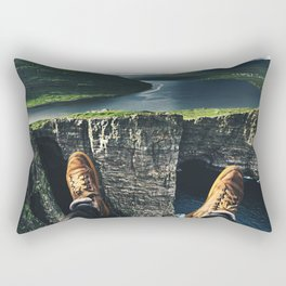 at the edge of the world Rectangular Pillow