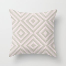 MONO:CHROMA Geometrica Earthy Pink Throw Pillow