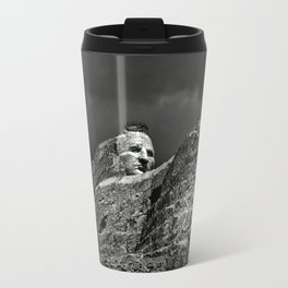 Crazy Horse Monument in Black and White Travel Mug