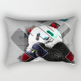Cute colorful collage Panda Rectangular Pillow