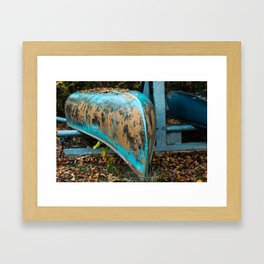 Old Canoe Framed Art Print