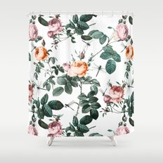 Floral and Winged Darter Shower Curtain