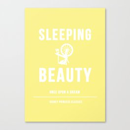 Disney Princesses: Sleeping Beauty Minimalist Canvas Print