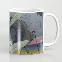 Vintage Illustration of Attacking Mosquitoes (1912) Coffee Mug