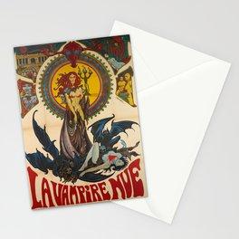 Advertisement la vampire nue un film de jean Stationery Cards