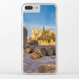Docks of Notre dame de Paris Clear iPhone Case
