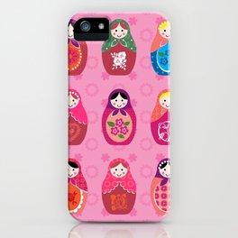 Matryoshka dolls pink iPhone Case