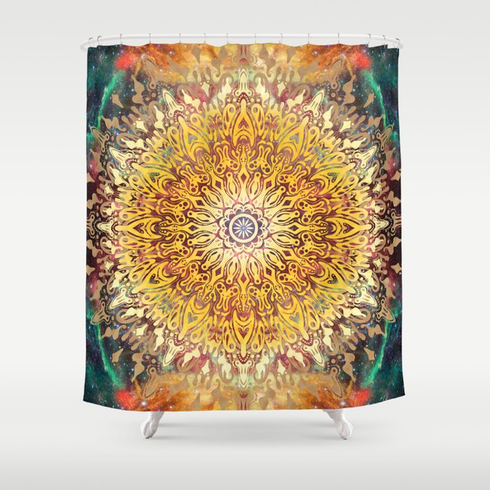 Cygnus Cosmic Mandala Shower Curtain
