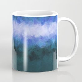 Slate Blue Steel Abstract Coffee Mug