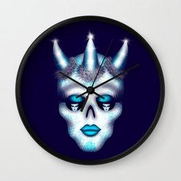 Horned Diva Skull Wall Clock