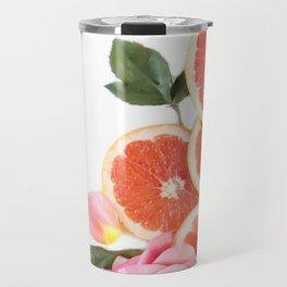 Grapefruit & Roses 04 Travel Mug