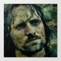 aragorn Canvas Prints featuring Aragorn  by janice maclellan