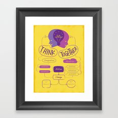 Let's Think Together!  Framed Art Print