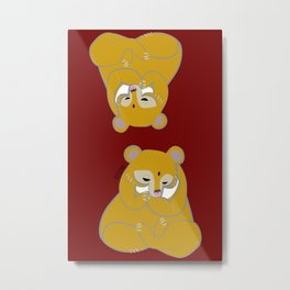 Golden Moonbear (c) 2017 Metal Print