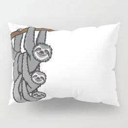 Sloth family Pillow Sham