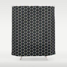 Metal grill design Shower Curtain