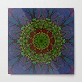 Ultra Violet Flower Tile 77 Metal Print