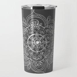 Gray mandala Travel Mug