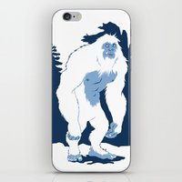 yeti iPhone & iPod Skins featuring Yeti by Rachel Young