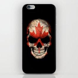 Dark Skull with Flag of Canada iPhone Skin