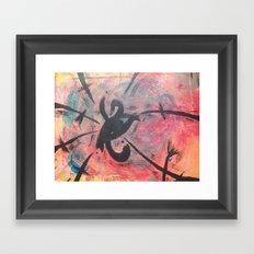 Chaotic EYE Framed Art Print
