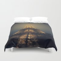 eiffel tower Duvet Covers featuring Eiffel Tower  by cchelle135