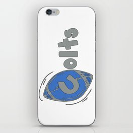 Colts Fancy Football Font iPhone Skin