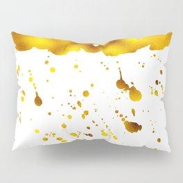 Gold Clouds Poison Rain Pillow Sham