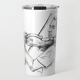 Violinist plays music Travel Mug