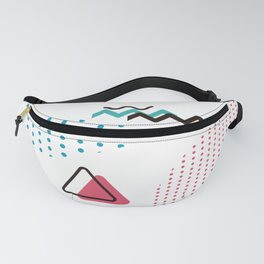 Memphis Throwback Retro 1990s 80s Trendy Hipster Polka-Dots Pattern Eighties  Perfect retro Fanny Pack