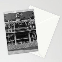 Penn State Football Stadium Pennsylvania College Black White Print Stationery Cards
